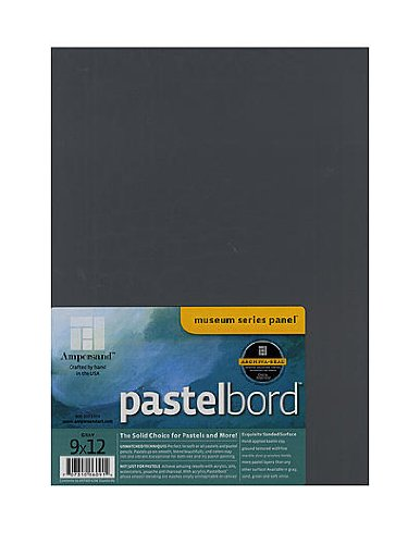 Ampersand Pastelbord 9 in. x 12 in. gray each [PACK OF 2 ] by Ampersand