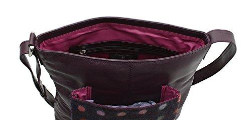 Collection 730 40 Abertweed Black Mala Leather Body Plum Bag Tweed amp; Spot Cross x8pSgSnqwE