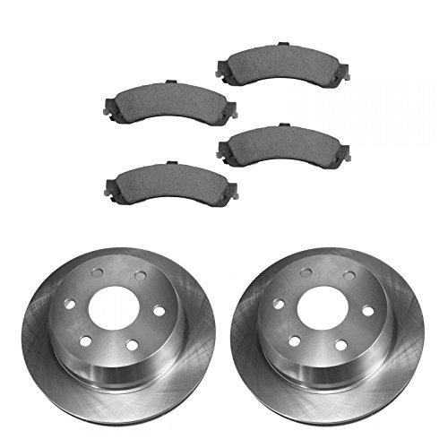 Rear Brake Rotor & Premium Posi Ceramic Pad Set Kit for Chevy GMC Truck