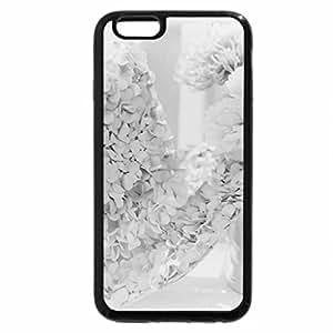 iPhone 6S Plus Case, iPhone 6 Plus Case (Black & White) - Pink Flowers
