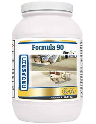 Chemspec Formula 90 BioSolv, Professional Carpet Cleaning Detergent, Quick Dissolving Powder, Fresh Citrus Scent, 1-6 lb jar (Commercial Carpet Detergent)