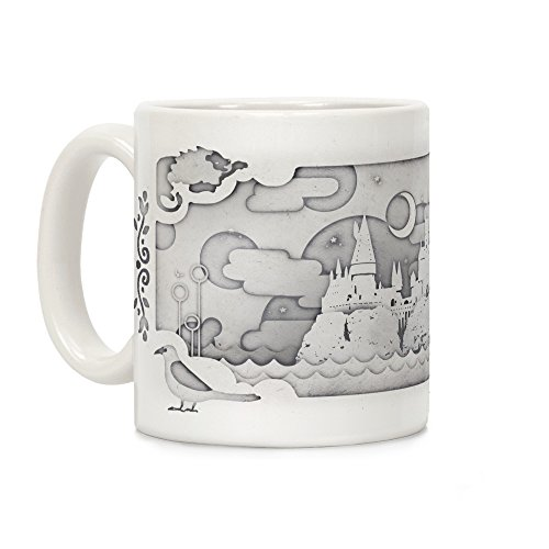 LookHUMAN Hogwarts Cut Paper White 11 Ounce Ceramic Coffee ()