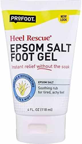ProFoot Epsom Salt Foot Gel, 4 Ounce Tube, Relief for Aching Feet