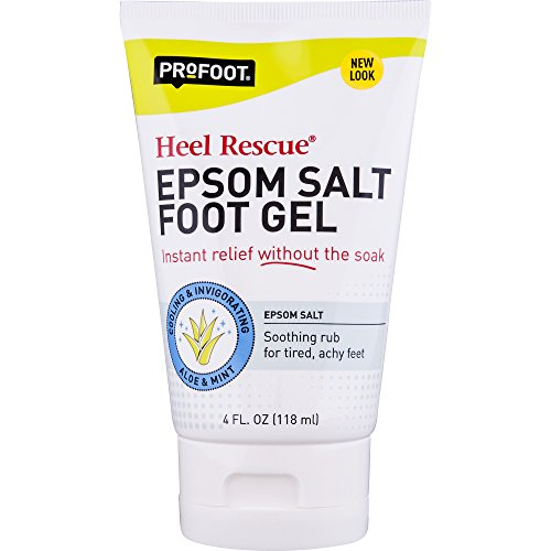 (ProFoot Epsom Salt Foot Gel, 4 Ounce Tube, Relief for Aching Feet)