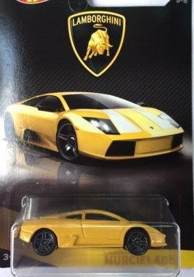 Hot Wheels 2017 Lamborghini Series Replacement for Lamborghini Murcielago 5/8, Yellow