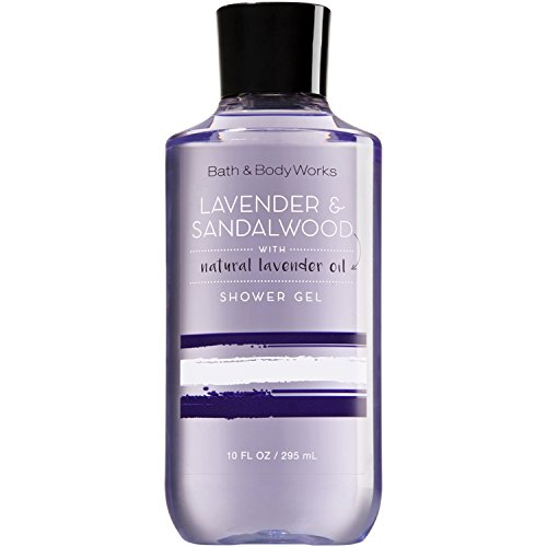 Natural Works (Bath and Body Works Signature Collection Lavender & Sandalwood Shower Gel with Natural Lavender Oil)