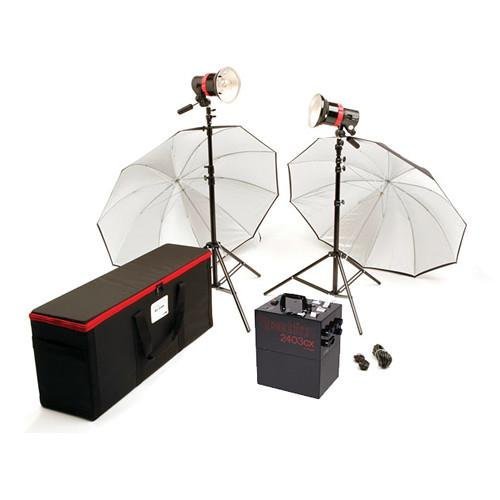 Speedotron 2403cx LV CC Air Travel 2-Light System with 202VFC Light Units and 7'' Reflectors by Speedotron
