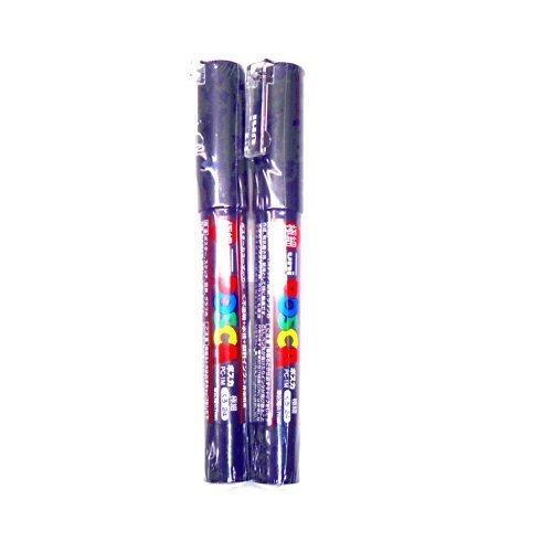(Uni Posca Paint Marker PC-1M Black, 2 pens per Pack(Japan Import) [Komainu-Dou Original Package])
