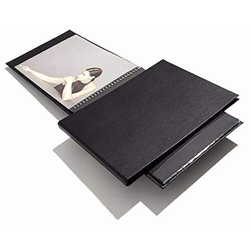 Prat Spiral Modebook 149, Hard Cover with 12 Sheet Protectors, Landscape 8.5 X 11 inches, Black (149I-11X8.5)