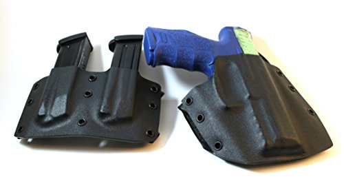 Bundle - Ronin OWB Mag Pouch and Holster for Heckler and Koch VP9, Black, Right (Vp9 Mags)