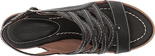 Bernardo Womens Blaine Black Tumbled Oil