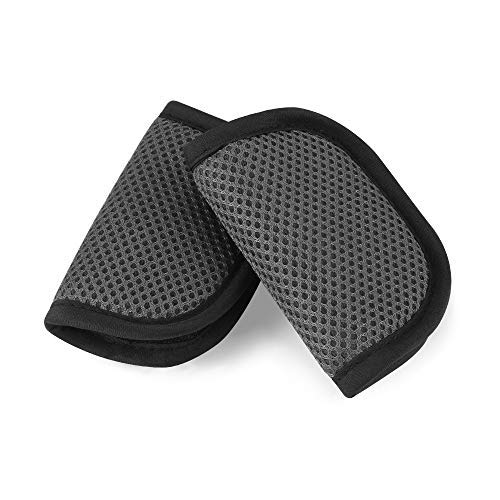 Accmor Baby Car Seat Strap Covers, Car Seat Strap Pads, Baby Seat Belt Covers, Stroller Belt Covers, Baby Head Support, Baby Shoulder Pads (Gray) ()