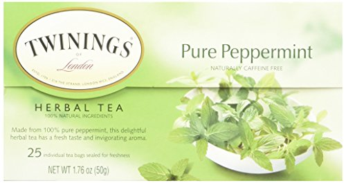 Twinings TWG09179 Tea Bags, Pure Peppermint, 1.76 oz, 25 Per Box