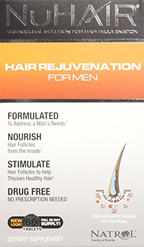 NuHair Hair Regrowth for Men Tablets, 60 Count
