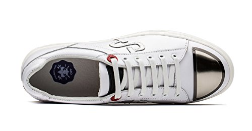 Design Shoes White up Sneaker Casual Unique Leather OPP Men's Lace Flat pzRIvTq
