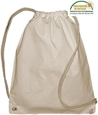 Bolsa Mochila Jassz Algodon organico Natural Grosor 140 grs. Tam. 37 x 46,5 cm.: Amazon.es: Hogar