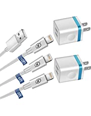 ARCCRA iPhone Charger, (10FT+6FT+3FT) Extra Long Fast Charging & Sync Cable with 2 X Dual Port USB Wall Charger Plug Adapter Compatible with iPhone 11/12 / Pro Max, Xs XR X 8 7 6S 6 Plus SE2 5S iPad