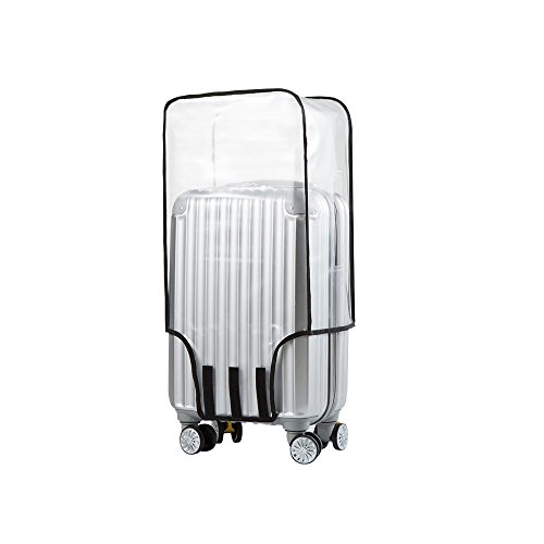 Joyden Clear PVC Suitcase Cover Wearproof Protectors  Luggage Cover Waterproof for Wheeled Suitcase Fits Most 20