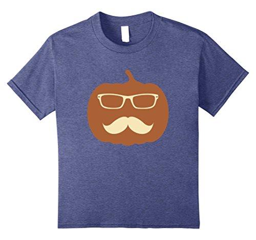 Spirit Holloween Costumes (Kids Funny Hipster Pumpkin Shirt Funny Halloween Sayings Shirts 8 Heather Blue)