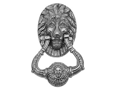 Lion Door Knocker Finish: Satin Nickel