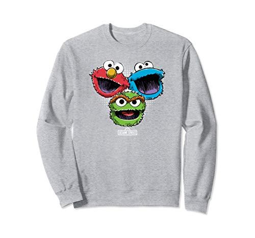 Sesame Street Halftone Heads Sweatshirt ()