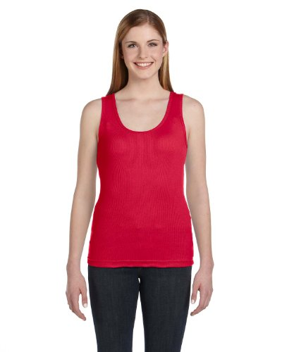 3565 LA T Ladies' 2X1 Rib Tank (Heather (93/7)) (2XL)