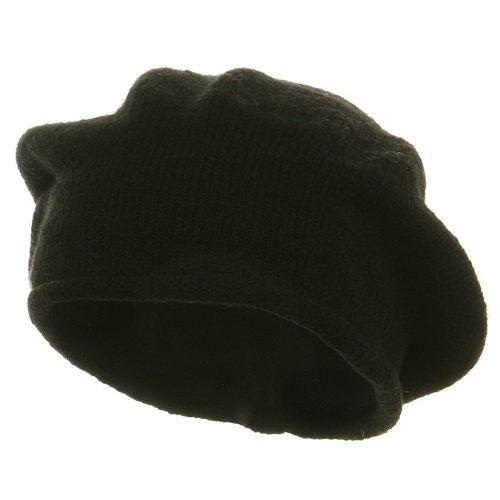 New Rasta Beanie Hat - Black (For Big Head)