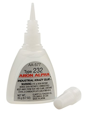 Aron Alpha Type 232 (300 cps) Fast Set Instant Adhesive 20 g (0.7 oz) Bottle ()