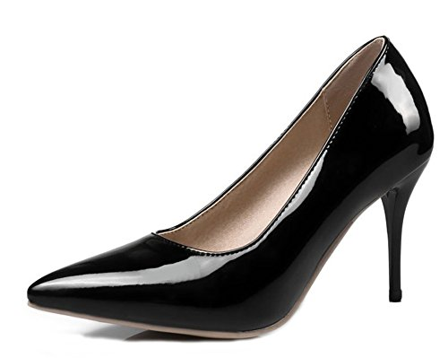 Aisun Shoes Women's Toe Heels Court High Black Sexy Stiletto Pointy pvTpwqCa