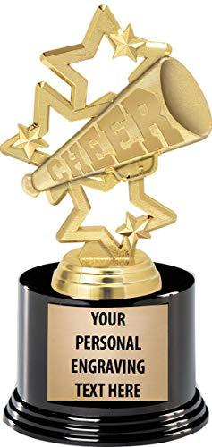 Custom Cheer Megaphones (Crown Awards Cheerleading Trophies with Custom Engraving, 7.25