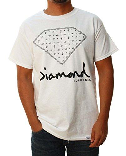 Diamond Supply Company Men's Big Paisley Logo Short Sleeve T-Shirt-2XL