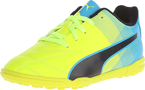 Atomic Football (Puma Kids Unisex Adreno II TT Jr Soccer (Toddler/Little Kid/Big Kid) Safety Yellow/Atomic Blue/Black Sneaker 2 Little Kid M)