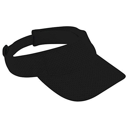 Black Mesh Visor - Augusta Activewear Athletic Mesh Visor-Adult, Black, One Size
