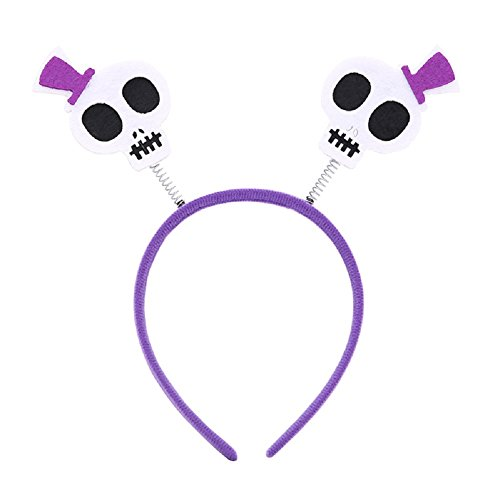T Pain Halloween Costumes (3 Pack Skull Halloween Boppers Headband Head Band Hair Accessories Kids Costume)