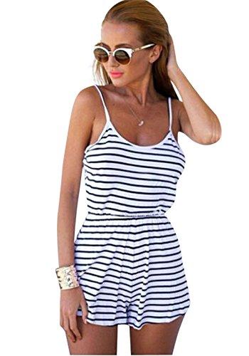 e80494527994 VestitiCocktail Maniche Rotondo Sciolto E Nere Beach Corto Righe Shorts A  Pzj® Collo Dress Nero Vestito Cotone Abito ...