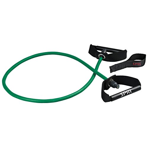 SPRI Xertube Resistance Band w/Door Attachment, Green, Light
