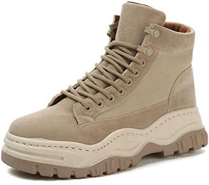 スノーブーツムートンブーツ ラウンドトゥ ハイカット メンズ ショートブーツ レースアップ 革靴 厚底 アウトドア 紳士靴 冬用 ウォーキングシューズ 安全靴 マーティンブーツ 裏起毛 デザートブーツ