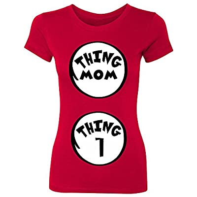 Thing Mom - Thing 1 2 3 Women's T-shirt Customizable PREGNANCY Announcement Cute