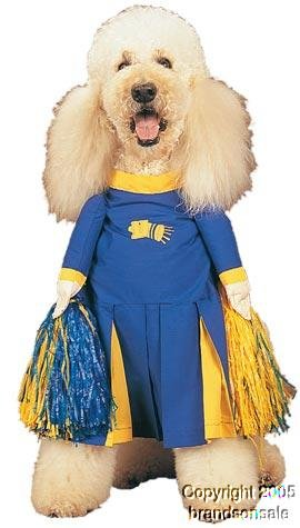 Pet Cheerleader Dog Costume For Medium Dogs by Fitco]()