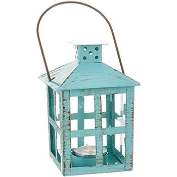4d7baf3dbcce Amazon.com: Primitives by Kathy Mercury Glass Lantern Red: Home ...