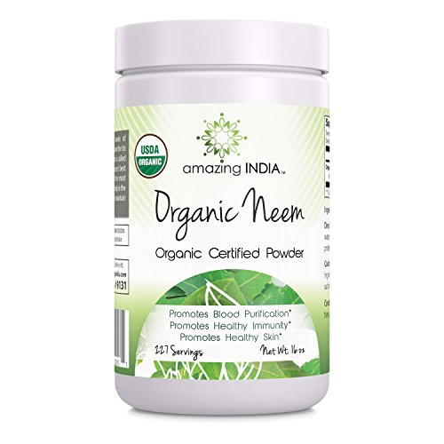 Amazing India Organic Neem Powder 16Oz   Promotes Blood Purification  Healthy Immunity   Healthy Skin