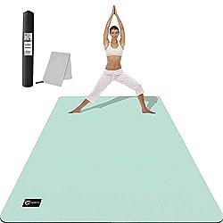 CAMBIVO Yogamatte, Gymnastikmatte extra groß(183cm x 122cm x 6mm), rutschfeste TPE Fitnessmatte Sportmatte mit Handtuch…