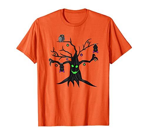 Happy Halloween T-Shirt - Spooky Tree Hallowen Shirt ()