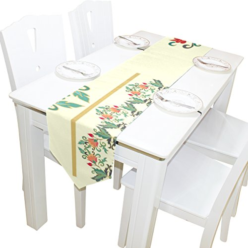 ABLINK Batik Designs 100% polyester characteristic print double-sided Table Runners Double Sided Quilted Batik