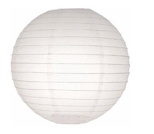 HOSL Round Paper Lantern - (10 Pack) (White, 12'')
