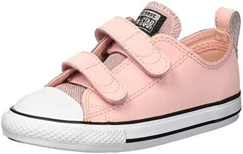 Converse Girls' Chuck Taylor All Star Glitter Leather 2V Low