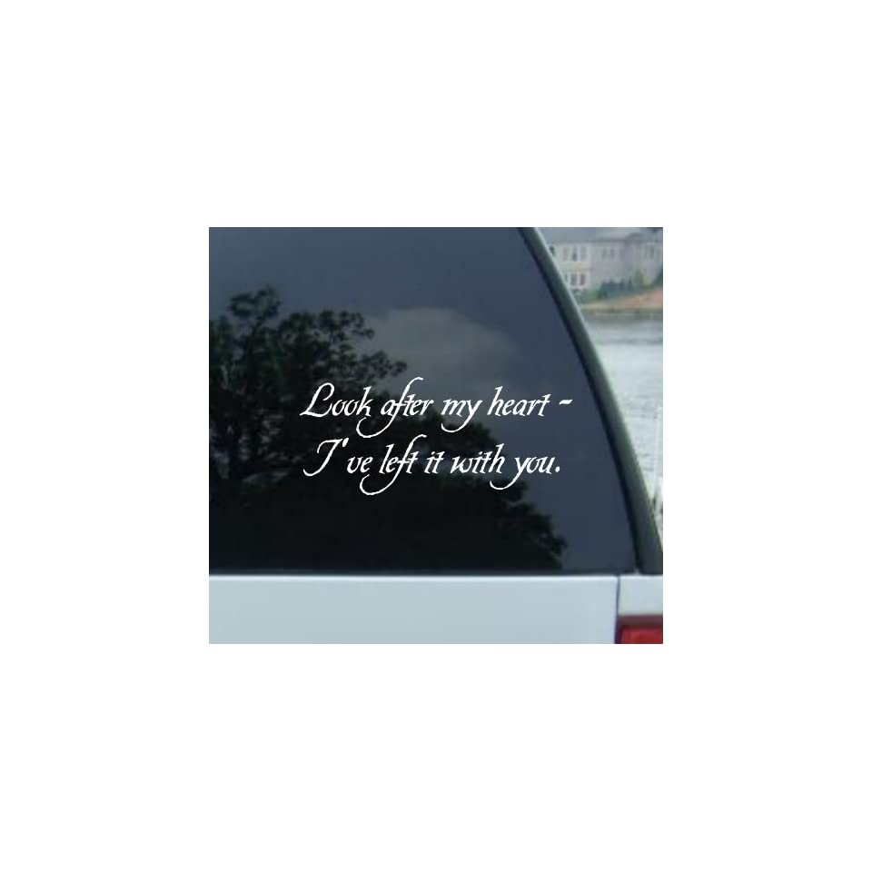 8 LOOK AFTER MY HEART IVE LEFT IT WITH YOU   Twilight   Edward Cullen Vinyl Decal Sticker