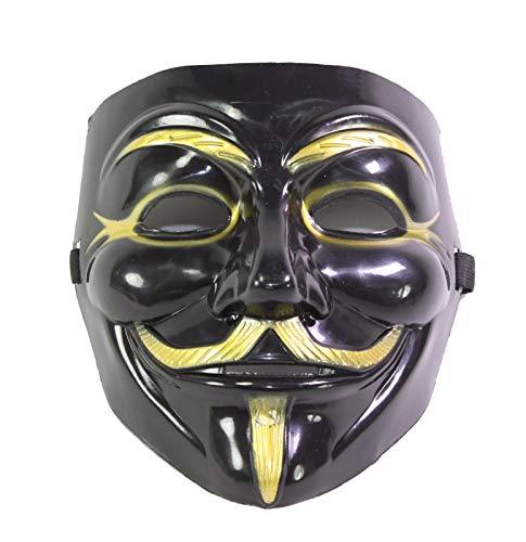 Imonic V for Vendetta Mask / Anonymous / Guy Fawkes Mask Black & Gold]()