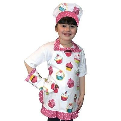 Sassafras The Little Cook: Ruffled Cupcake Apron Set Kitchenware