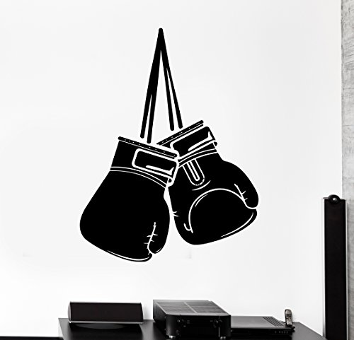 Wall Sticker Sport Box Boxing Gloves Martial Arts Fight Vinyl Decal (z2974)